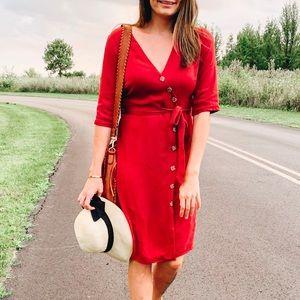 A-line Button-up Dress
